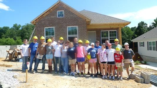 The Birmingham office of Baker Donelson participated in a Habitat for Humanity Build in Center Point, Alabama on June 2, 2012.