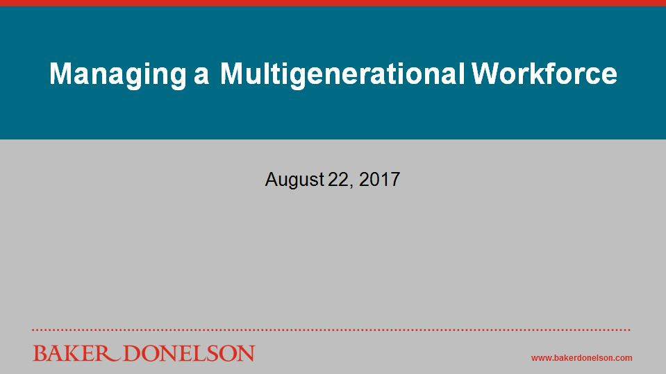 managing a multigenerational workforce essay The multi-generational workforce is a reality and not likely to change given the fact that the youngest boomers are only 51 years old complicating matters is the fact that more than a third of us workers report to a younger boss (guiney, 2014.
